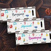 Канцелярские товары handmade. Livemaster - original item Pencil cases with engraved names.. Handmade.