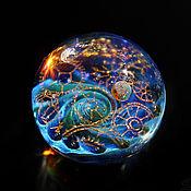 Украшения handmade. Livemaster - original item Pendant ball Alien Dream. Cosmos Galaxy Gear clock time Planet Space. Handmade.