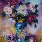 """Картины и панно ручной работы. Ярмарка Мастеров - ручная работа """"Розы"""". Handmade."""