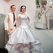 Свадебный салон ручной работы. Ярмарка Мастеров - ручная работа Свадебные портретные куклы. Handmade.