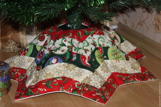 Текстиль, ковры ручной работы. Ярмарка Мастеров - ручная работа. Купить лоскутная юбка для новогодней елки. Handmade. Комбинированный