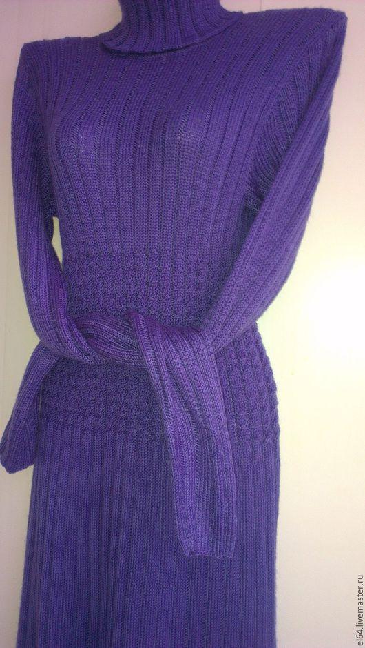 Платья ручной работы. Ярмарка Мастеров - ручная работа. Купить Платье вязанное Синева. Handmade. Тёмно-синий, платье женское