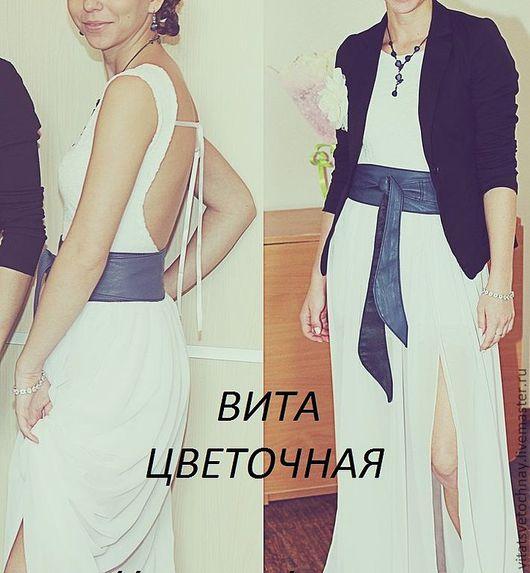 """Платья ручной работы. Ярмарка Мастеров - ручная работа. Купить Комплект платье+юбка """"Нежность"""". Handmade. Белый, платье с открытой спиной"""