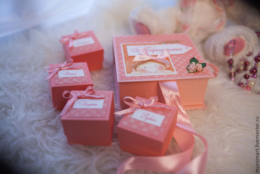 """Подарки для новорожденных, ручной работы. Ярмарка Мастеров - ручная работа. Купить Коробочка """"Мамины сокровища"""". Handmade. Коробочка, коробка для мелочей"""