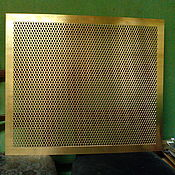 handmade. Livemaster - original item GRILLE RADIATOR brass screen decorative. Handmade.