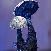 Для дома и интерьера ручной работы. Ярмарка Мастеров - ручная работа Lactarius Indigo - интерьерная текстильная грибница. Handmade.