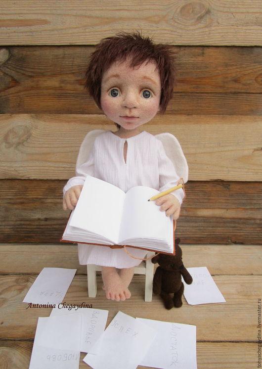 Коллекционные куклы ручной работы. Ярмарка Мастеров - ручная работа. Купить Ангел Исполнения Желаний. Handmade. Белый, желания, кукла