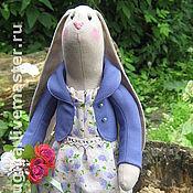 Куклы и игрушки ручной работы. Ярмарка Мастеров - ручная работа Заюшка в сиреневом. Handmade.