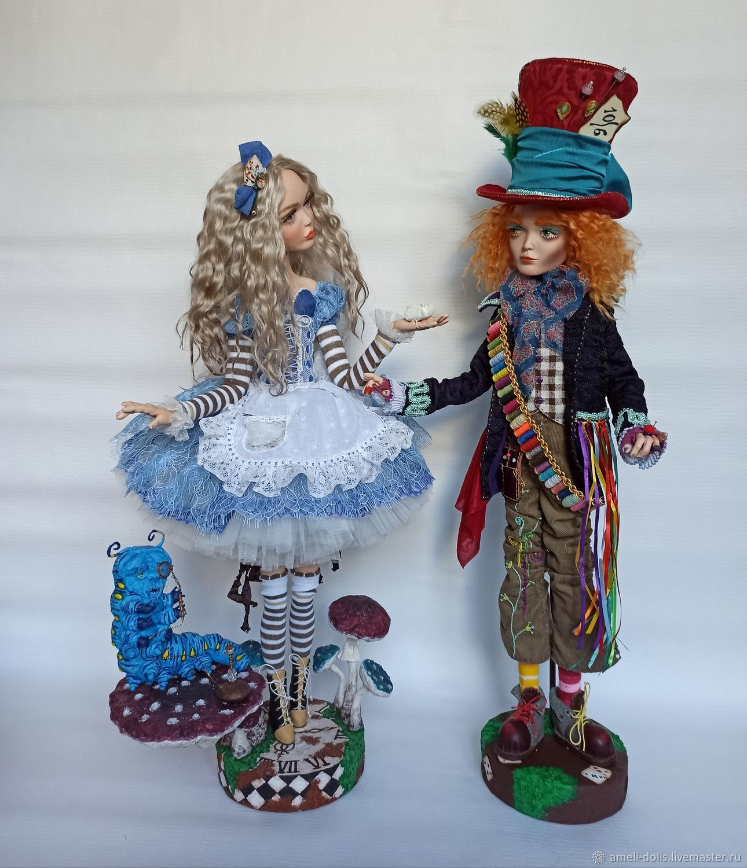 Алиса и Шляпник в стране чудес, Портретная кукла, Томск,  Фото №1