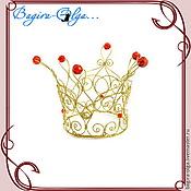 """Свадебный салон ручной работы. Ярмарка Мастеров - ручная работа комплект """"Золушка"""" корона, колье и серьги. Handmade."""