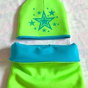 """Работы для детей, ручной работы. Ярмарка Мастеров - ручная работа Комплект шапка и снуд """"звезды"""". Handmade."""