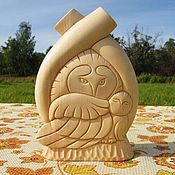 Для дома и интерьера handmade. Livemaster - original item Figurine Owl owl. Figure of the cedar. Handmade gift. Handmade.
