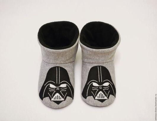 """Обувь ручной работы. Ярмарка Мастеров - ручная работа. Купить Домашние сапожки """"Звездные войны"""". Handmade. Серый, звездные войны"""