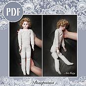 Материалы для творчества ручной работы. Ярмарка Мастеров - ручная работа PDF Выкройка и руководство по изготовлению тела для куклы. Handmade.