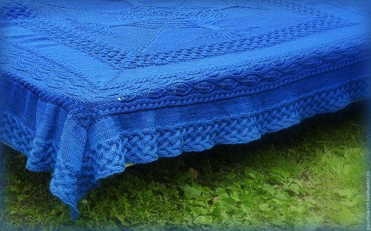 """Текстиль, ковры ручной работы. Ярмарка Мастеров - ручная работа. Купить Большой плед, покрывало """" Семейное счастье"""". Handmade."""