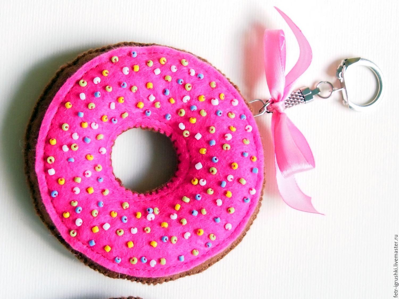Как сделать брелок пончик