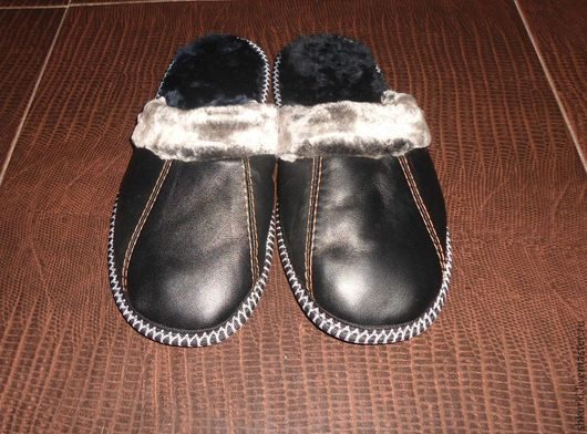 Обувь ручной работы. Ярмарка Мастеров - ручная работа. Купить SALE !!! Тапочки мужские, кожаные.. Handmade. Тапки