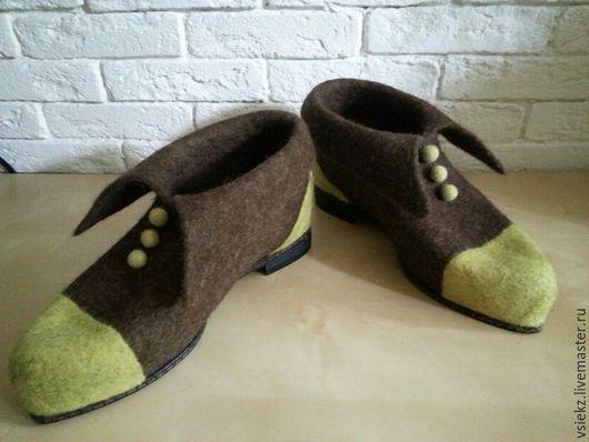 Обувь ручной работы. Ярмарка Мастеров - ручная работа. Купить Ботинки демисезонные. Handmade. Коричневый, демисезонная обувь