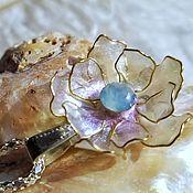 Necklace handmade. Livemaster - original item Delicate peach flower pendant. Handmade.