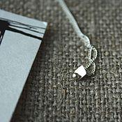 Украшения ручной работы. Ярмарка Мастеров - ручная работа Кулон №9 серебро 925 минимализм. Handmade.
