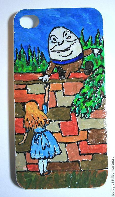 """Для телефонов ручной работы. Ярмарка Мастеров - ручная работа. Купить Чехол для мобильного телефона """"Шалтай-Болтай"""". Handmade. Рисунок"""