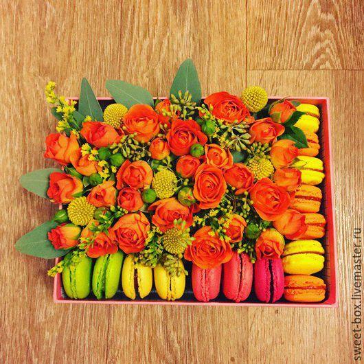 Цветы ручной работы. Ярмарка Мастеров - ручная работа. Купить Lovebox - коробочка счастья.Flower box.. Handmade. Коробочка счастья