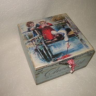 """Для дома и интерьера ручной работы. Ярмарка Мастеров - ручная работа Шкатулка для....  """"Детство..."""". Handmade."""