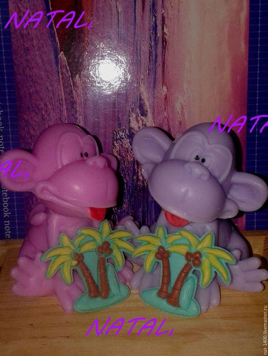 """Мыло ручной работы. Ярмарка Мастеров - ручная работа. Купить Подарочный набор  """"Обезьяна с пальмой"""". Handmade. Разноцветный, набор подарочный"""