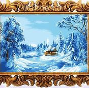 """Схема для вышивания бисером """"Синяя зима"""" (Цыганова)"""