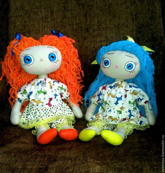 Вальдорфская игрушка ручной работы. Ярмарка Мастеров - ручная работа. Купить Кукла из ткани. Handmade. Комбинированный, текстильная игрушка, тыквоголовка