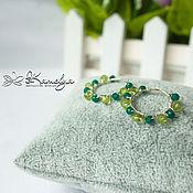 Украшения handmade. Livemaster - original item Silver earrings with emerald