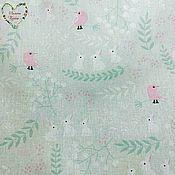 handmade. Livemaster - original item Calico Uzbekistan cotton Moscow birds bunnies animals Provence. Handmade.