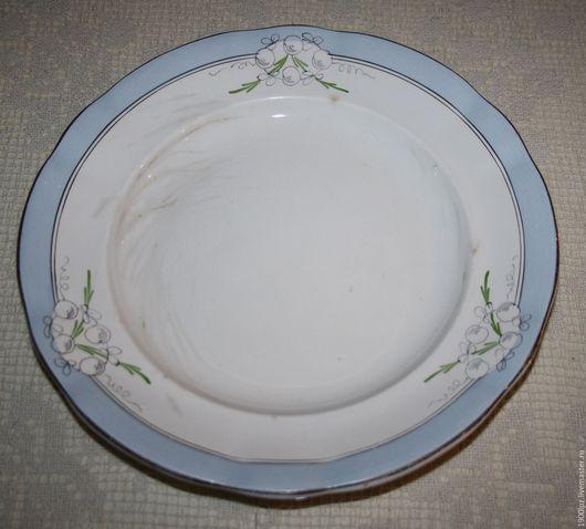 Винтажная посуда. Ярмарка Мастеров - ручная работа. Купить Большая тарелка (26,5 см) из 30-х годов .... Handmade.