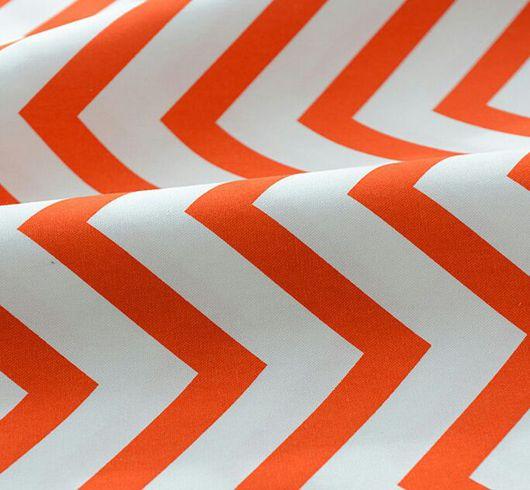 Шитье ручной работы. Ярмарка Мастеров - ручная работа. Купить Ткань Шеврон. Лен. Оранжевый. Handmade. Ярко-красный