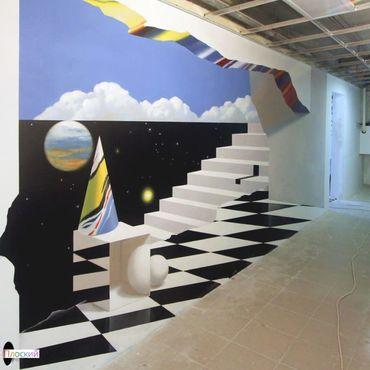Дизайн и реклама ручной работы. Ярмарка Мастеров - ручная работа 3д рисунки на стенах в Москве. Handmade.