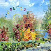 Картины и панно handmade. Livemaster - original item Oil painting Autumn in the Park. Handmade.