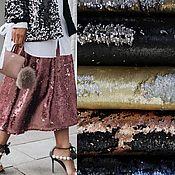 Материалы для творчества handmade. Livemaster - original item Sequins fabric Double sided. Handmade.