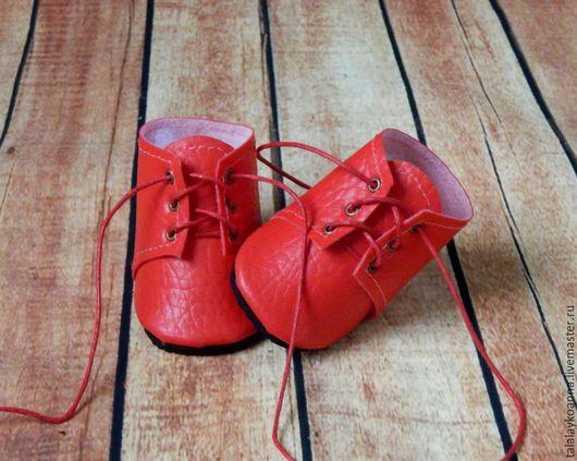 Одежда для кукол ручной работы. Ярмарка Мастеров - ручная работа. Купить Ботиночки для куклы на шнурках. Handmade. Обувь для кукол, туфли