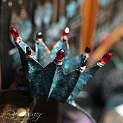 Украшения ручной работы. Ярмарка Мастеров - ручная работа Медная корона с камнями, корона из меди. Handmade.