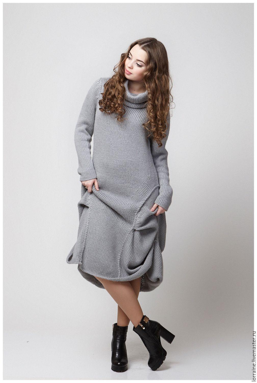 Купить Трикотажное Вязаное Платье