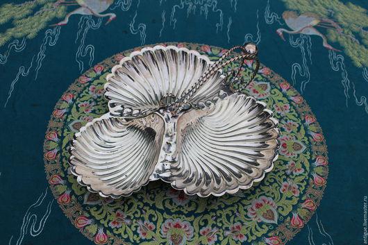 Винтажная посуда. Ярмарка Мастеров - ручная работа. Купить Старинная менажница,серебряное покрытие,Англия. Handmade. Менажница, блюдо декоративное