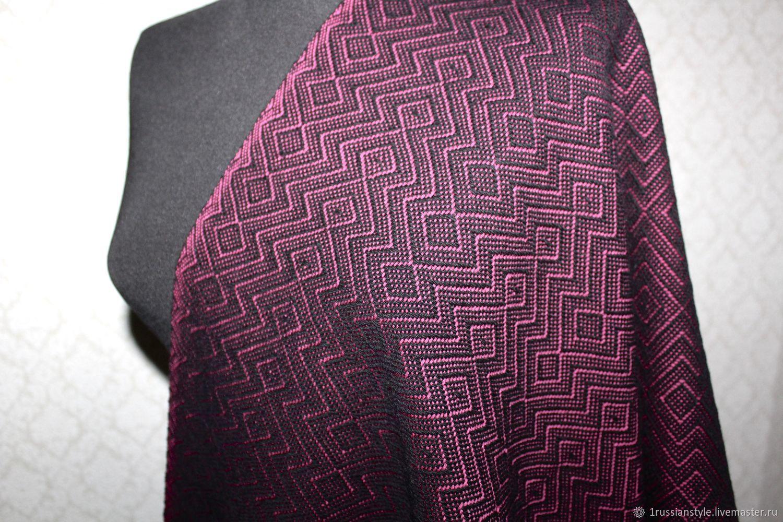 Woven scarf handmade. Merino cashmere, Scarves, Aprelevka,  Фото №1