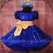 Работы для детей, handmade. Livemaster - original item Baby dress Queen blue Art.-280. Handmade.