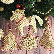 """Подарки к праздникам ручной работы. Ярмарка Мастеров - ручная работа Набор новогодних игрушек """"Праздник""""-2. Handmade."""