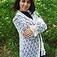 Кофты и свитера ручной работы. 120- кофта кардиган пуховая белая вязаная . одежда. Надежда , пуховый платок. Ярмарка Мастеров.