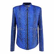 handmade. Livemaster - original item Jacket leather Python-ECLISSE. classic blue.. Handmade.