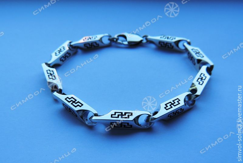 Bracelet Perun (5 mm), Folk decorations, Sochi,  Фото №1