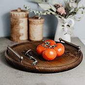 Для дома и интерьера handmade. Livemaster - original item Round Serving tray with handles (38#2. Handmade.