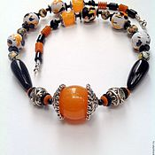 Украшения handmade. Livemaster - original item Necklace beads vintage style Impressionism.. Handmade.