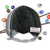 Аксессуары handmade. Livemaster - original item Children`s knitted warm hat with ears and ties for the newborn. Handmade.